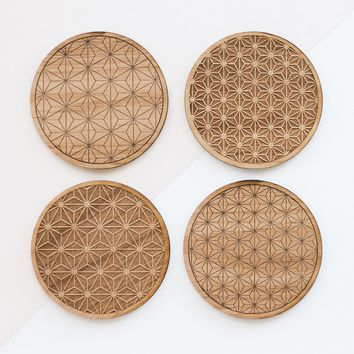 Starburst Wood Coasters