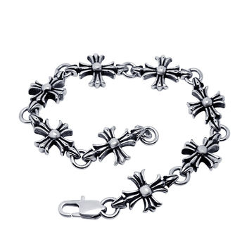 Great Deal Hot Sale New Arrival Gift Shiny Awesome Accessory Punk Stylish Titanium Vintage Cross Rack Bracelet [6542702787]