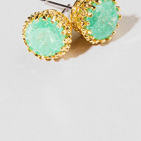 South Padre Jeweled Studs In Mint