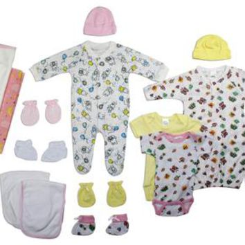 Girl 19 Pc Layette Baby Shower Gift