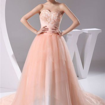 Wedding Dresses Sweetheart Flower Tulle Lace