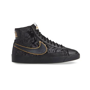 Nike Women's Blazer Mid Black Metallic Gold