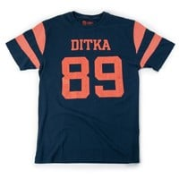 Mike Ditka No. 89 Tribute Retro T-Shirt Football Legends by Red Jacket