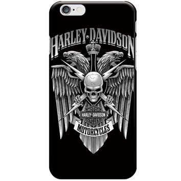 Harley Phone Case For iPhone 7 8 6 6S Plus Skull Case Motorcycle Back Cover Soft TPU For iPhone7 8 X Plus Case 5 5S SE Coque