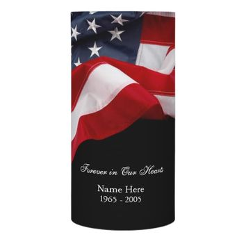 American Flag Memorial LED Candle
