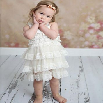 Flower chiffon Princess Newborn Toddler Girls Dress Summer 2017 Christmas Party Tutu Tulle Dresses Clothes For Children Birthday