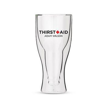 Personalized Double Walled Beer Glass Thirst Aid Print (Pack of 1)