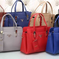 PRADA Women Fashion Leather Satchel Tote Handbag Shoulder Bag Crossbody Set Two-Piece