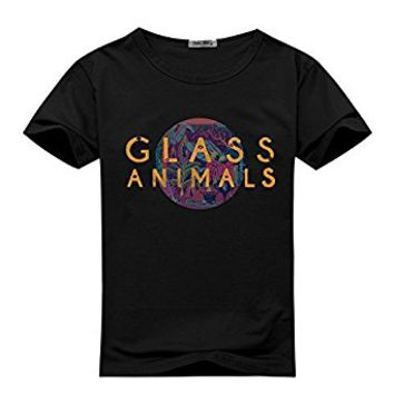 EdmonDonor Mens T-shirts Funny Glass Animals Rock Band Logo - Pattern 1