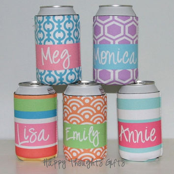 Monogrammed Custom Koozie - Choose your design