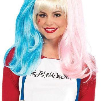 ESBI7E Deviant Doll wig with clip on pony tails in MULTICOLOR