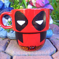 Deadpool Handpainted Stackable Mug