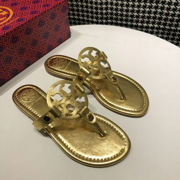 Tory burch Popular Summer Women Flats Men Slipper Tory burch Sandals Shoes