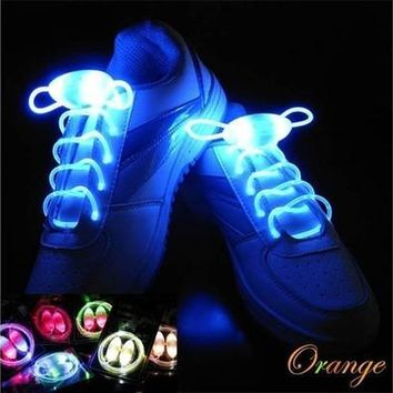 Led Flashing Shoelaces Lumious Sports Shoes Laces Drance Ghost Step Dancing Shoes [9305856007]