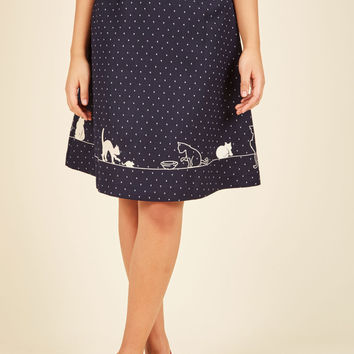 First Wag, Then Play A-Line Skirt | Mod Retro Vintage Skirts | ModCloth.com