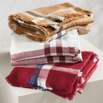 Plaid Blanket Scarf by Mud Pie