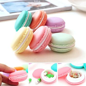 Ulrica 6 PCS Mini Dressing SD Card Macarons Bag Storage Box Case Carrying Pouch