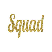 Squad Iron-On Vinyl Decal - Glitter Iron-On - 5 Colors -  DIY Bachelorette Party Shirt  - Glitter Squad Vinyl Iron On Heat Transfer