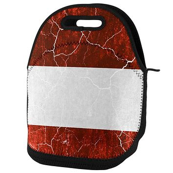 Austrian Flag Distressed Grunge Lunch Tote Bag