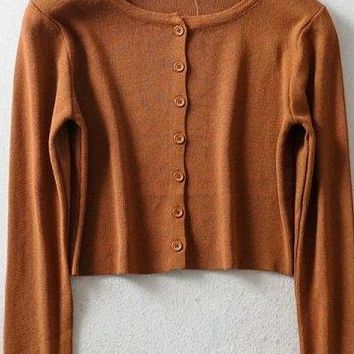 Vintage Crop Cardigan - 9 Colors
