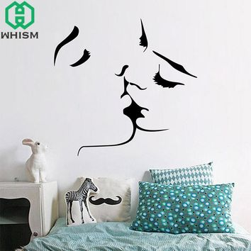 Lover Kissing Wall Decals for Bedroom