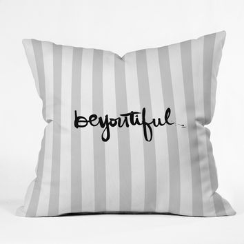 Kal Barteski beYOUtiful stripes Throw Pillow