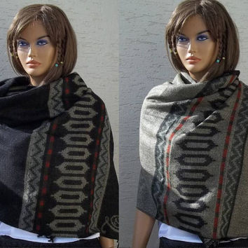Blanket Scarf, Winter Shawl Scarf, Long Scarf, 2 Way Scarf, Oversize Scarf, Unisex Scarf, XL Scarf, Womens Winter Accessories, Trend Scarves