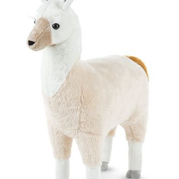 Melissa & Doug Standing Lifelike Plush Llama Stuffed Animal Plush, 31 x 30 x 9.5