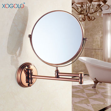 Xogolo 8'' Two-Sided Wall Mount Makeup Mirror 360 Degree Swivel Extendable Cosmetic Floding Easy Positioning 3X Magnificatio
