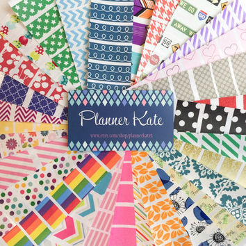 Washi Stickers GRAB BAG for Erin Condren Life Planner or Plum Paper Planner