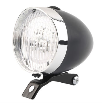 Retro Bicycle Bike 3 LED Front Light Headlight Vintage Flashlight Lamp New