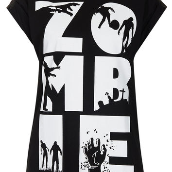 Zombie Tee By Tee And Cake - Tops - Clothing - Topshop USA