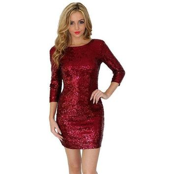 Sequin Backless Party Dress