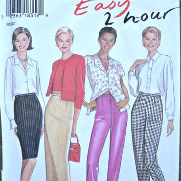 New Look 6445 Easy 2 Hour Women's Pants and Skirt Pattern, Sizes 8 through 18