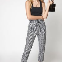 Kendall and Kylie Paperbag Waist Pants at PacSun.com - black/white | PacSun