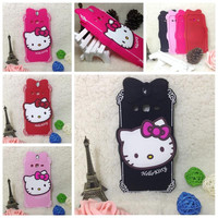 Luxury 3d cute hello kitty soft silicone case protective mobile phone bags back cover for samsung galaxy Grand 2 G7106
