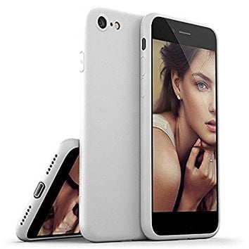 iPhone 8 Case / iPhone 7 Case, Moduro [MINIMALIST SERIES] Full Coverage Ultra Thin [1.0mm] Slim Fit Flexible TPU Case for iPhone 8 / iPhone 7 (Matte White)