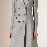 Tailored Double Breasted Cashmere Coat