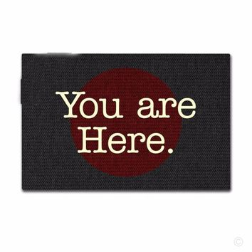Autumn Fall welcome door mat doormat Entrance  Non-slip  You Are Here Funny Printed  Funny Designed Non-woven Fabric Top Mat 18x30 AT_76_7
