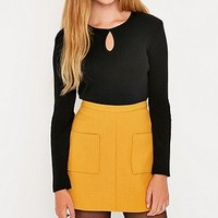 Urban Outfitters Keyhole Ribbed Pull On Top - Urban Outfitters