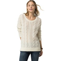 Sheer Wool Cableknit Sweater | Tommy Hilfiger USA