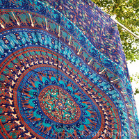 Gypsy Tapestry Indian Ethnic Art Wall Hanging Mandala Hippie Bedding Boho Bedspread Beach Throw Twin Bed Sheet Home Decor Jaipur Traditional