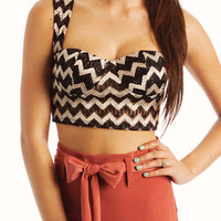 metallic-zigzag-crop-top BLACKGOLD - GoJane.com