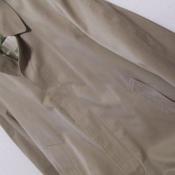 London Fog Trench Coat Khaki With Zip Out Lining Size 42 S