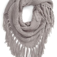 BP. Cable Knit Triangle Scarf | Nordstrom