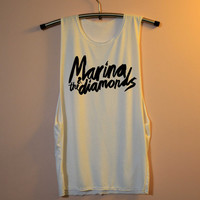 Marina & The Diamonds Shirt Muscle Tee Tank Top TShirt T Shirt Top Women - size S M L