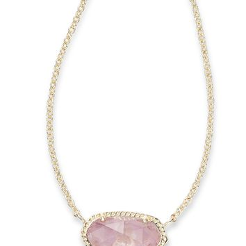 Kendra Scott Elisa Purple Amethyst Gold Necklace