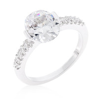 Cubic Zirconia Engagement Ring - Anniversary Ring - Bridal Ring - Oval Engagement Ring - Promise Ring