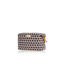 River Island Womens Orange geo print makeup bag