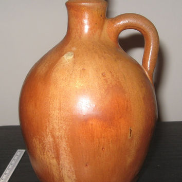 1950's Glazed Pottery Small Jug Signed by The Artist